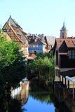 Le centre de la ville de Colmar Image stock