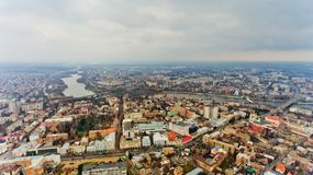 Le centre de la ville de Vinnytsia, Ukraine photos stock