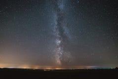 Le centre de notre galaxie à la maison, la galaxie de manière laiteuse, nuit tient le premier rôle le paysage image stock