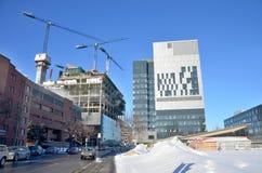 Le centre de nouveau Montréal en construction hospitalier Photographie stock