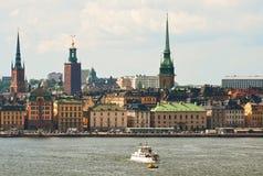 Le centre de Stockholm Images libres de droits