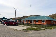 Le centre de village de Cameron de la municipalité de Temaukel Tierra del Fuego photo stock