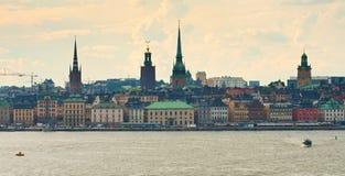 Le centre historique de Stockholm Images libres de droits
