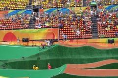 Le centre olympique de BMX pendant le Rio2016 Photos libres de droits