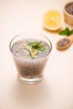 boisson de graines de chia avec de l 39 eau photo stock image du sain app tissant 52333164. Black Bedroom Furniture Sets. Home Design Ideas