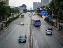 Le centre ville à Nanning, Chine Image libre de droits