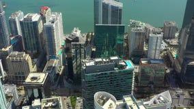 Le centre ville aérien Miami FL de longueur de bourdon banque de vidéos