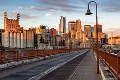 Le centre ville au lever de soleil Images libres de droits