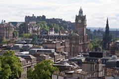 Le centre ville d'Edimbourg Image libre de droits