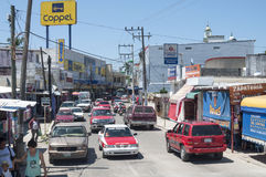 Le centre ville dans la ville mexicaine Images libres de droits