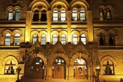 Le centre ville de construction historique dedans de Columbus Image libre de droits