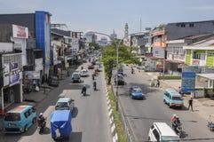 Le centre ville de la ville de Makassar, Indonésie Photos stock