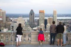 Le centre ville de Montréal image libre de droits