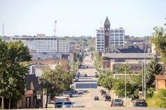 Le centre ville de Sioux Fall, le Dakota du Sud Images stock