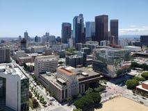 Le centre ville des anges de visibilit? directe de ville a vu de l'h?tel de ville photo stock