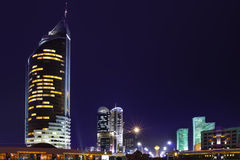 Le centre ville du capital de Kazakhstan Photo stock