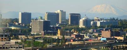 Le centre ville et bâti Jefferson de Portland Images libres de droits