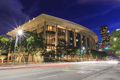 Le centre ville et réflexion de Los Angeles photos stock