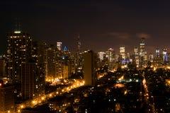 Le centre ville la nuit Photographie stock libre de droits