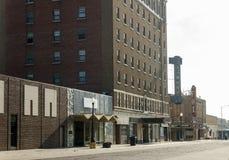 Le centre ville mort Image stock