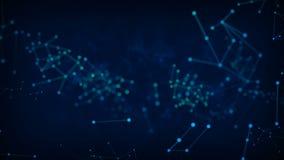 Le cercle abstrait de point de fond avec la connexion pour le cyber futuriste de réseau relient le concept au bruit de fractale d illustration stock