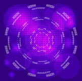 Le cercle bleu abstrait pointille le fond Images stock