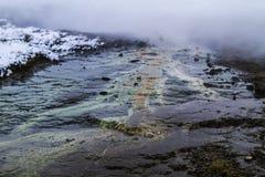 Le cercle d'or en Islande pendant l'hiver Images libres de droits