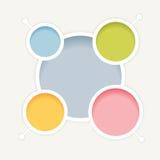 Le cercle de cascade colore le fond Photographie stock