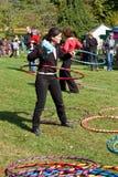 Le cercle de danse polynésienne Photo stock
