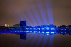 Le cercle de festival de la lumière La Manche d'aviron Photos libres de droits