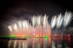 Le cercle de festival de la lumière La Manche d'aviron Images libres de droits