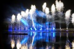 Le cercle de festival de la lumière La Manche d'aviron Image libre de droits