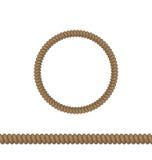 Le cercle et la ligne rope des éléments d'isolement sur le fond blanc Photo libre de droits