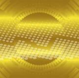 Le cercle technique d'or abstrait pointille le fond Photo stock