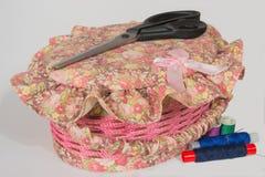 Le cercueil pour les accessoires de couture Photo libre de droits