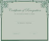 Le certificat est attribué le professeur Photographie stock libre de droits