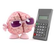 le cerveau 3d calcule illustration libre de droits