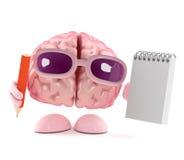 le cerveau 3d prend des notes Photographie stock libre de droits