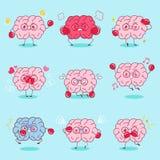 Le cerveau de bande dessinée font l'émotion différente Photo stock