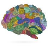 Le cerveau de l'homme, dirigent l'illustration plate Photo stock