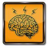Le cerveau, l'inspiration et le mal de tête Image stock