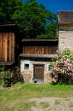 Le château antique Pernstein photographie stock libre de droits