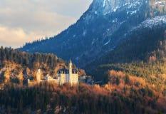 Le château célèbre de Neuschwanstein Photo libre de droits
