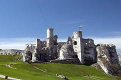 Le château d'Ogrodzieniec est un château médiéval ruiné en Cracovie-CZ Images stock