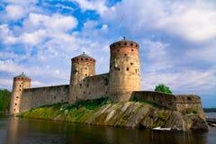 Le château d'Olavi Photos stock