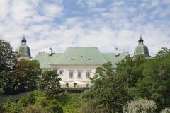 Le château d'Ujazdow, Varsovie, Pologne image libre de droits