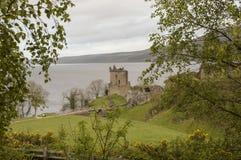 Le château d'Urquhart Images libres de droits