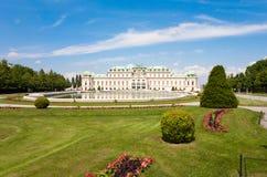 Le château de belvédère avec son parc à Vienne, Autriche photographie stock libre de droits
