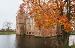 Le château de Cannenburgh est un château du 16ème siècle dans Vaassen Images stock