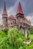Le château de Corvins, Roumanie photos libres de droits